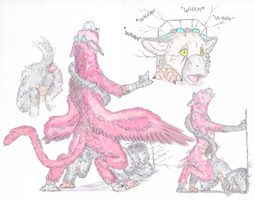 last trico guardian horns the My little pony friendship is magic anthro